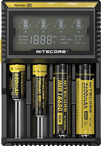 Nitecore D4 Digicharger Smart Battery Charger LCD Screen