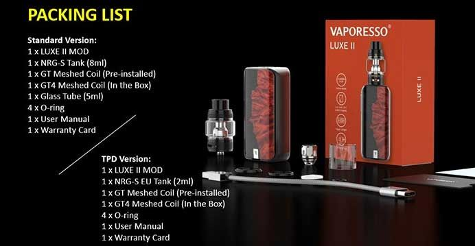Vaporesso LUXE II Kit Dual18650
