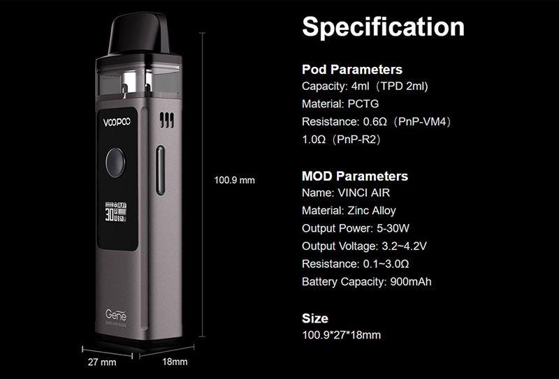 Voopoo VINCI AIR Pod Kit - 900mah