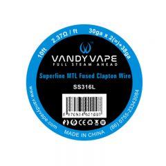 Vandyvape Superfine MTL Fused Clapton Vape Wires