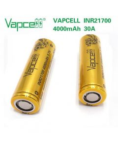 VapCell 40T 21700 4000mAh 30A rechargeable battery