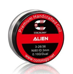 Coilology Alien Handcrafted DIY Prebuild Coil (2pcs/pack) 0.10/dual