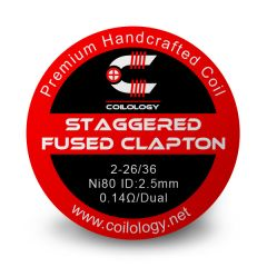 Coilology - Ni80 Staggered Fused Clapton dual (2 pcs)