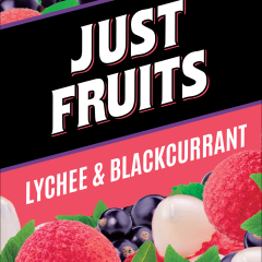 JUST FRUITS LYCHEE AND BLACKCURRANT ELIQUID 60ML