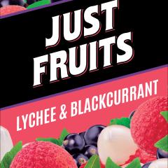 JUST FRUITS PREMIUM E-LIQUID 60ML LYCHEES AND BLACKCURRANT