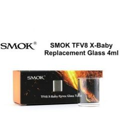 SMOK TFV8 X-Baby Replacement Glass Tube 2ml/4ml 3pcs