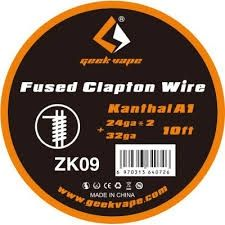 GeekVape Kanthal A1 Fused Clapton Wire (24GAx2+32GA) 10ft ZK09