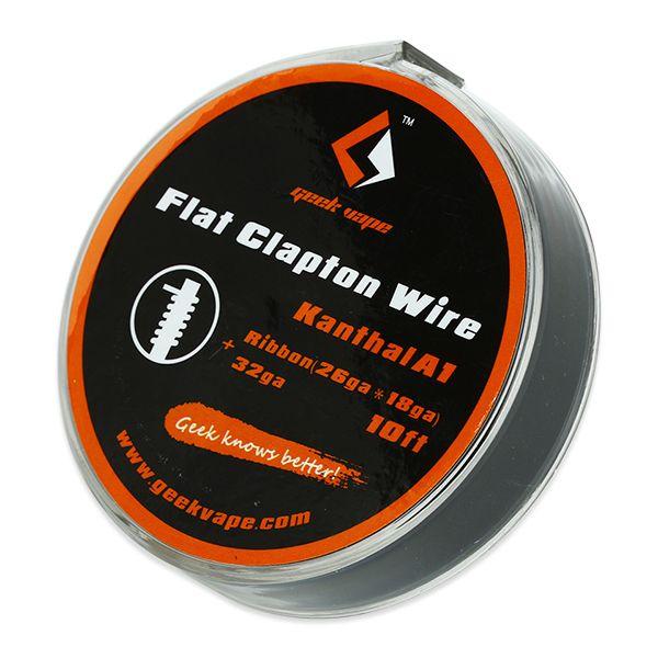 GeekVape Kanthal A1 Flat Clapton Wire Ribbon (26GAx18GA)+32GA 10ft