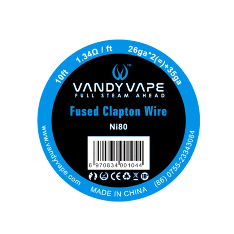 orderVandyvape Resistance Wire Clapton Wire Ni80 Vape Wires