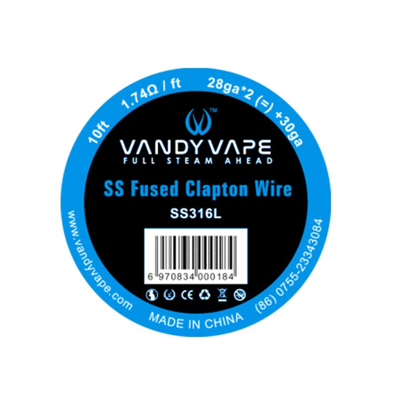 Vandyvape Resistance Wire Fused Clapton SS316L Vape Wires EW