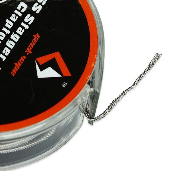 GeekVape Stagger Fused Clapton Wire SS316L (26GA+32GA) x2+32GA 10ft