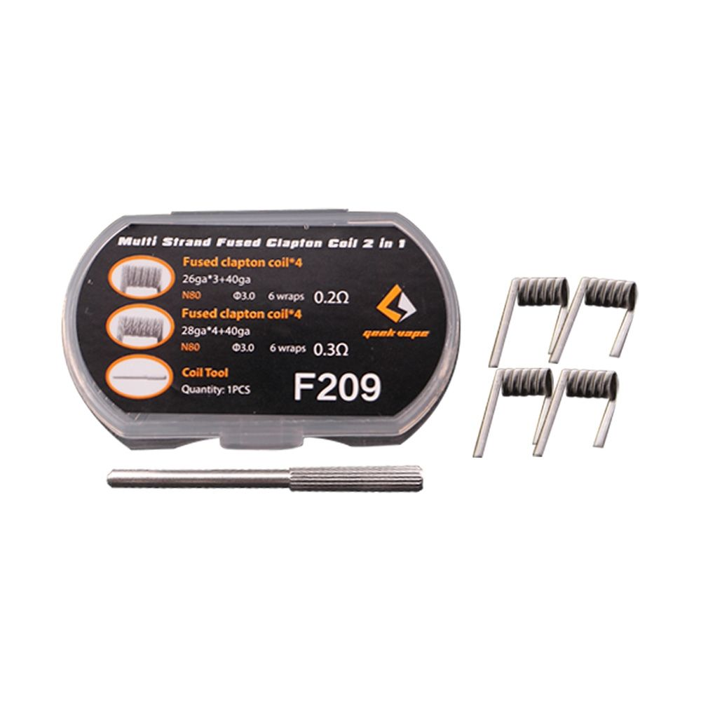GeekVape N80 Strand Fused Clapton Wire 2 in 1 8pcs (6 wraps)