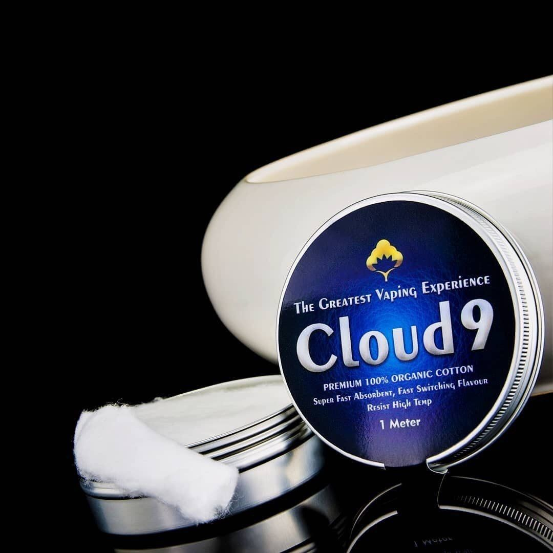 Cloud 9 Cotton is made for perfection of every vapers out there who wants to find their 'Cloud 9' in vaping experience, therefore Cloud 9 Cotton is processed 24 times to reach its purity of a fiber cotton and to deliver the greatest vaping experience for