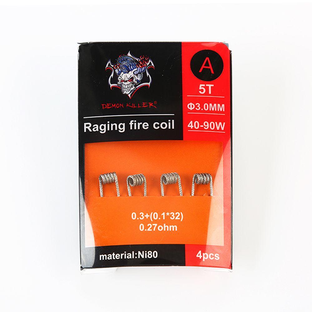 Demon Killer Raging Fire Coil Ni80 4pcs