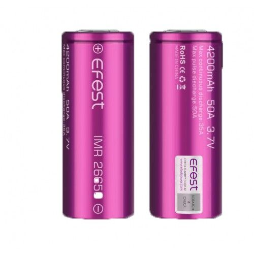 Efest IMR 26650 4200mAh 50A flat top battery