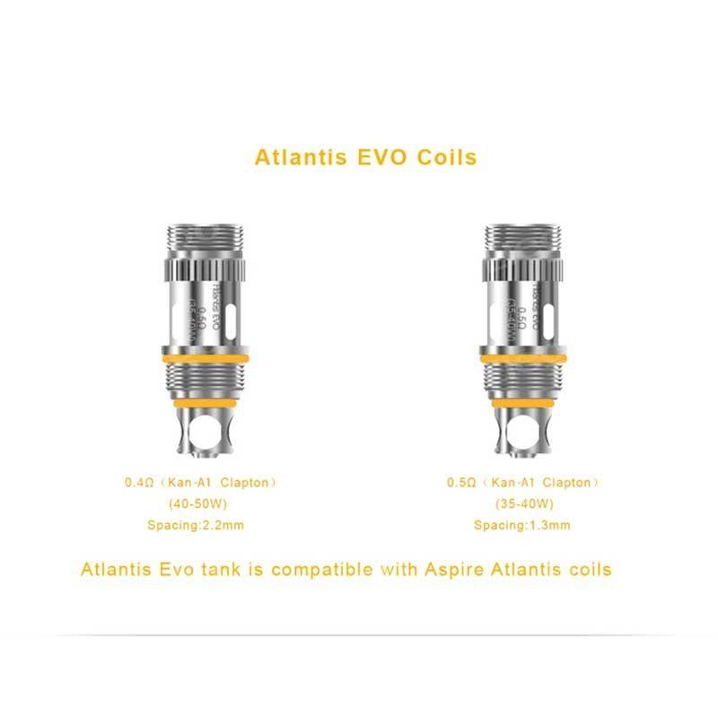 Aspire Atlantis EVO Replacement Coils (5pcs/pack)