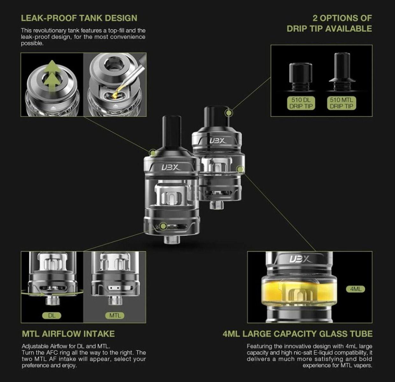 Lost Vape Ultra Boost X DL and MTL Tank 4ml
