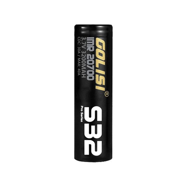 1pc Golisi S32 IMR 20700 Battery 30A 3200mAh High-drain Li-ion Battery