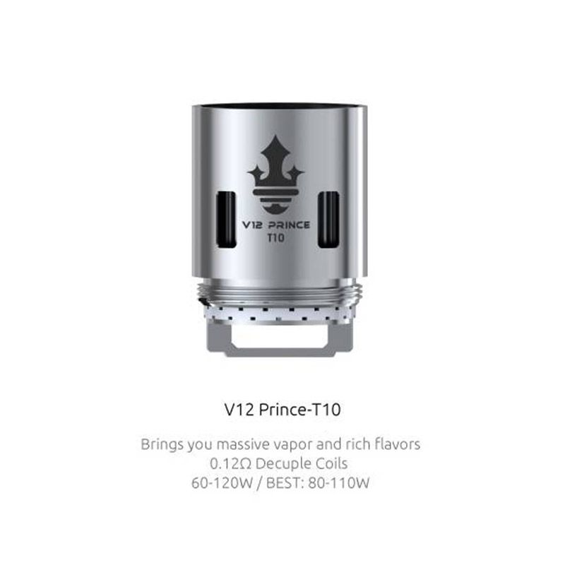 SMOK V12 Prince-T10 Core 0.12ohm for TFV12 Prince Tank (3pcs/pack)