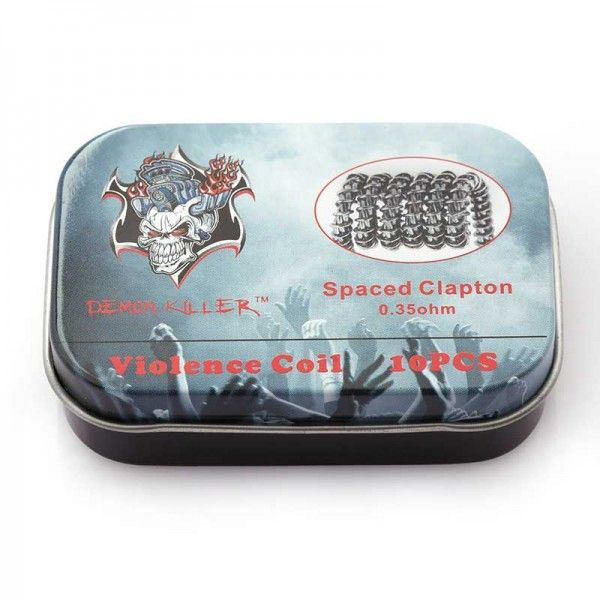 Demon Killer Prebuilt Wire Spaced Clapton 0.35ohm 10pcs