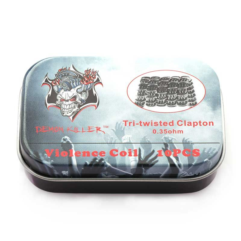 Demon Killer Prebuilt Wire Tri-twisted Clapton 0.35ohm 10pcs