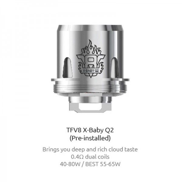 SMOK X-Baby Q2 Replacement Coil 0.4ohm TPD for TFV8 X-Baby (3pcs/pack)